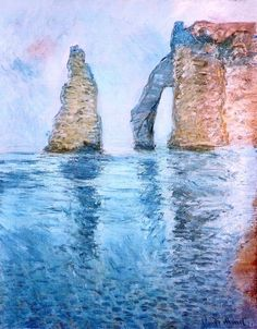 1885; Claude Monet / La Needle e la Port d'Aval seen from the West.