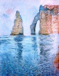 1885; Claude Monet / La Needle e la Port d'Aval seen from the West.