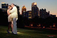 Engagement photos in Piedmont Park   #EngagementPhotos #Weddings #Photography #Bride