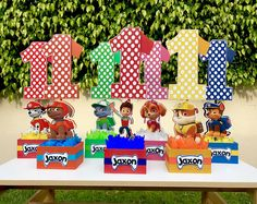 Paw Patrol Number Centerpieces for Birthday Candy Buffet or Favors Table Handcrafted from Wood Age Paw Patrol Centerpiece SET OF 7