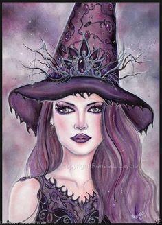 Original 10 x 14 inches Contessa  Halloween witch  RENEE L. LAVOIE #Realism