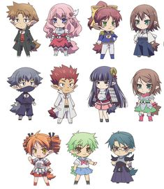 Baka to test chibi Anime Chibi, Kawaii Anime, Manga Anime, Anime Art, Manga Art, Manhwa, Baka To Test, Chibi Characters, Cute Chibi