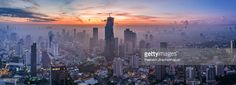 Stock Photo : Panorama of central Bangkok city & Mahanakhon