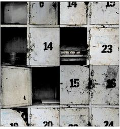 old industrial style lockers used as shelves Industrial Living, Industrial Interiors, Industrial Chic, Vintage Industrial, Industrial Lockers, Industrial Furniture, Industrial Industry, Design Industrial, Metal Lockers