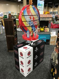 Bacardi 'A Little Extra Spirit' Free Standing Unit - Looking to get noticed with your point of sale display in a busy, fast-paced retail environment? Increase confidence in your sales with www.popthis.com.au