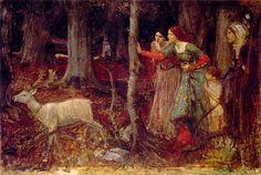 The Mystic Wood    John William Waterhouse, 1914- 1917