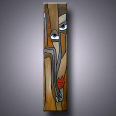 Art: Just Once - by Artist Thomas C. Long Painting, Wood Painting Art, Pop Art, Abstract Face Art, Colorful Wall Art, Cool Art Drawings, Wooden Art, Art Portfolio, Whimsical Art