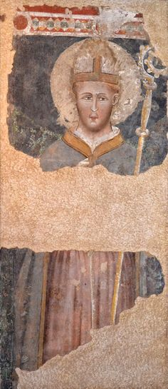 Anonimo maestro di scuola trecentesca riminese  (Cerchia di Pietro da Rimini?) San Ludovico da Tolosa St. Ludwig of Toulouse 1330 ca.