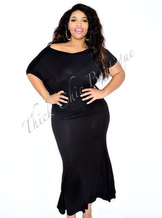 Off The Shoulder Maxi Dress, $36.99 by Thick Chic Boutique
