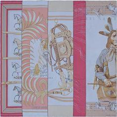 La Maison des Carrés Hermès Carre en Carres Silk Bow Ties, Bengal Tiger,  Design 6c2a3eddb9d