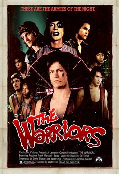 The Warriors...ONE OF MY FAVORITE MOVIES OF ALL TIME....THIS MOVIE HAS TURNED INTO A CULT CLASSIC....IF YOU HAVE NEVER SEEN THIS MOVIE......YOU SHOULD.....YOU WILL LOVE IT.....IT'S A SOLID 4 STAR MOVIE.........MY OPINION.