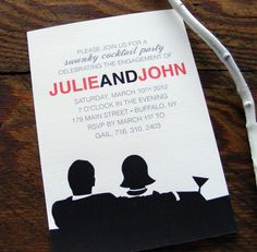 Totally want a Mad Men themed/60's styled wedding....Shower Invites/Save the dates!