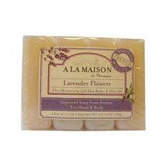 A La Maison Bar Soap Lavender Flower Value (4 Pack)