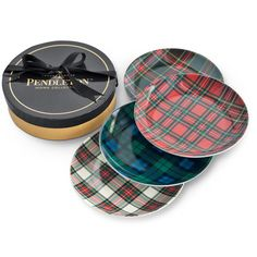 Pendleton tartan appetizer plates  // extra 20% off at the waiting on martha cyber monday sale  //  #giftguide