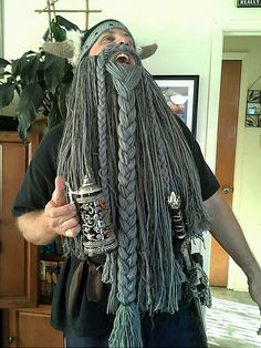 Jeff's Halloween :) Ravelry: Viking or Dwarven Beard pattern by Melissa Campbell