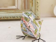 Bird made from a vintage Parisian map.