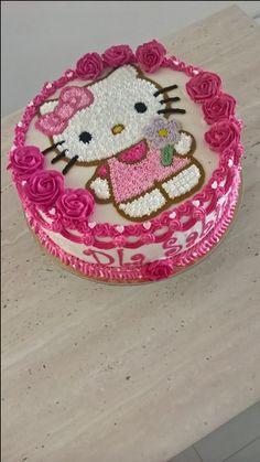 Kue Hello Kitty, Torta Hello Kitty, Hello Kitty Shoes, Hello Kitty Bag, Sanrio Hello Kitty, Birthday Cake Gif, Hello Kitty Birthday Cake, Bithday Cake, Cute Cupcakes