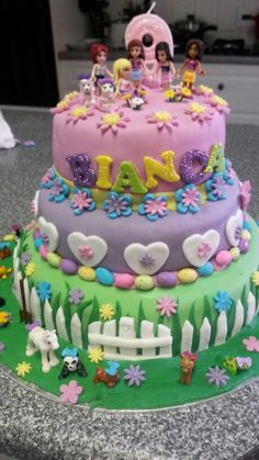 Lego friends Birtday Cake