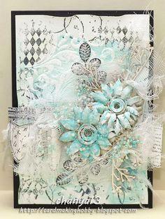 Cardmaking blog: Zimowe kwiaty.