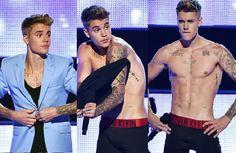 VIDEO: Justin Bieber strips down to his underwear at Fashion Rocks 2014