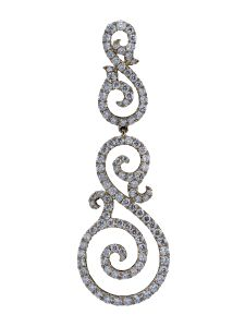 Boucles d'oreilles Montega - Elie Chatila, or rouge, diamants, BOR 800.965