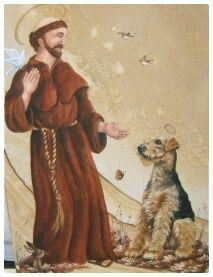St. Francis. Blessing of the terriers