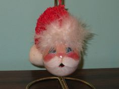 santa face light bulb - Penryk Hand painted Crafts and Collectables