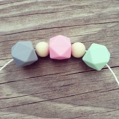 DIY teething beads for nursing & babywearing necklaces!
