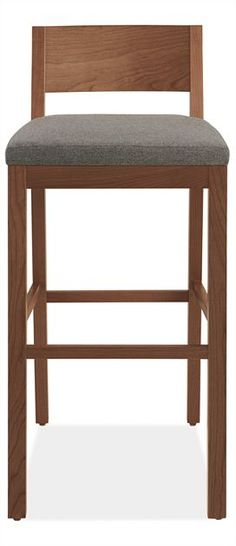 Afton asking for bar stools with low backs