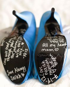 have bridesmaids write their names on your shoe. It's said that whoever's name does not wear off by the end of the night is the next to get married!