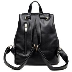 Faux Leather Drawstring Flap Backpack ❤ liked on Polyvore featuring bags, backpacks, accessories, backpack bags, drawstring bag, vegan leather backpack, day pack backpack and faux leather rucksack