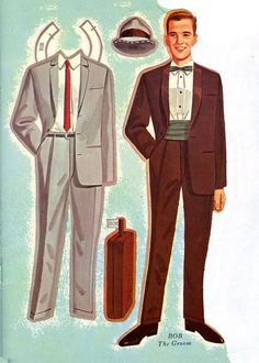 """Double Wedding 1964* 1500 free paper dolls international artist Arielle Gabriel""""s The International Paper Doll Society for pinterest paper doll pals *"""