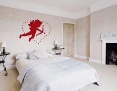 Love Cupid Wall Decal, Love Cupid Wall Sticker, Love Cupid Wall Tattoo. Love Wall Decals.