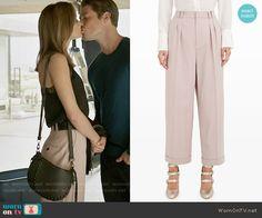 Megan's pink trousers on The Arrangement. Outfit Details: https://wornontv.net/69819/ #TheArrangement