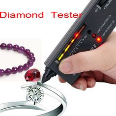 Diamond & Gemstone Jewelry Tester Selector Tool II with Red Lamp-Black - http://ucables.com/product/diamond-gemstone-jewelry-tester-selector-tool-ii-with-red-lamp-black/