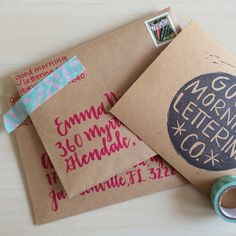 shipping out etsy orders! #goodmorningletteringco