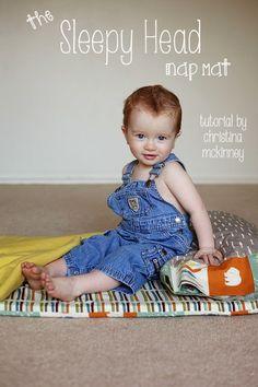 Tutorial | The Sleepy Head Nap Mat | by Christina McKinney | Birch Fabrics
