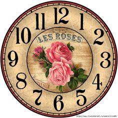 Decoupage Vintage, Vintage Maps, Clock Face Printable, Clock Flower, Unusual Clocks, Clocks Back, Wall Clocks, Handmade Clocks, Cd Crafts