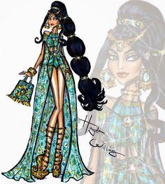 #Hayden Williams Fashion Illustrations: #Disney Divas 'Beach Beauties' by Hayden Williams: Jasmine