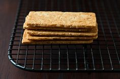 """slice-n-bake cookies """"pains d'amande"""" Egg-less almond cookies-pat into a pan, chill, then slice as you see. Genius."""
