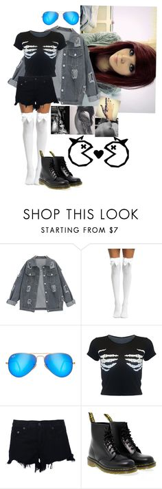 """-Nyx"" by nefelibata-anons ❤ liked on Polyvore featuring Ray-Ban, rag & bone and Dr. Martens"