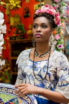 Frida Kahlo Stylist Sue Fyfe-Williams Photographer Charlotte Roest-Ellis Model Sabrina White