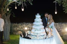 Wedding cake 5 tier cream and chocolate