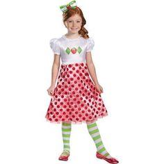 Strawberry Shortcake Classic Child Halloween Costume, Girl's, Size: S (4-6)