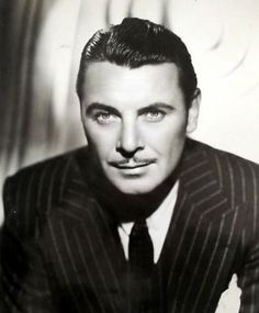 George Brent - loved the sound of his voice, so suave.