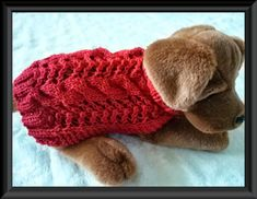 Hey, I found this really awesome Etsy listing at https://www.etsy.com/listing/186110410/dog-sweater-knitting-pattern-aran-twists