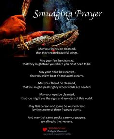 Smudging prayer, native american ceremony, tradition, sage, burning sage, home prayers, positive vibes, pray