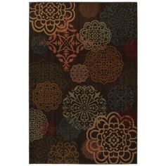 Mohawk Sienna Dark Brown 5 ft. 3 in. x 7 ft. 10 in. Area Rug-369095 at The Home Depot