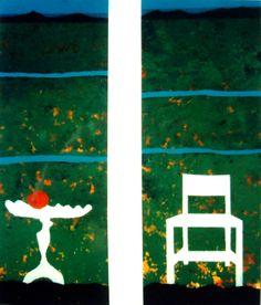 Acryl op papier Titel: Maas en Waal