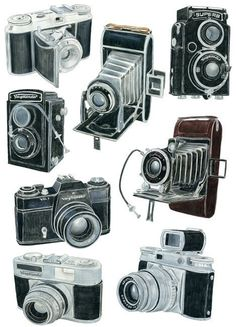 8 Voigtlander Camera Drawings - Limited Edition Print